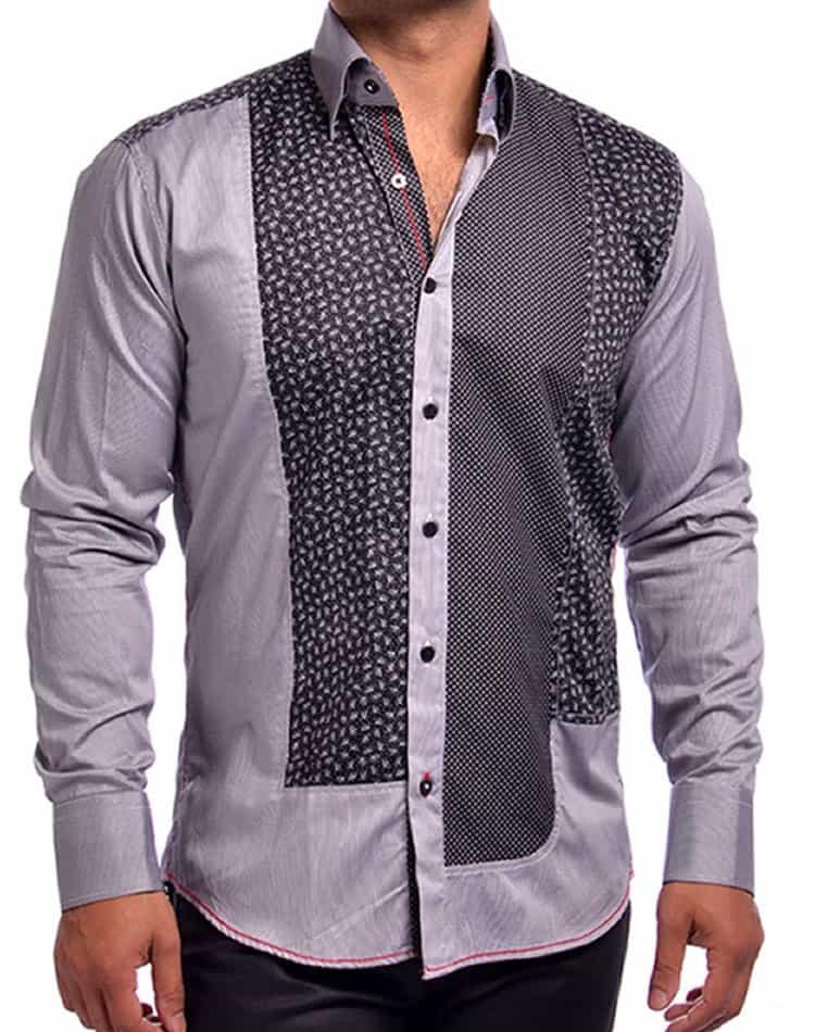 Mondo jeans matrix black designer shirt for Turkey mens designer shirts