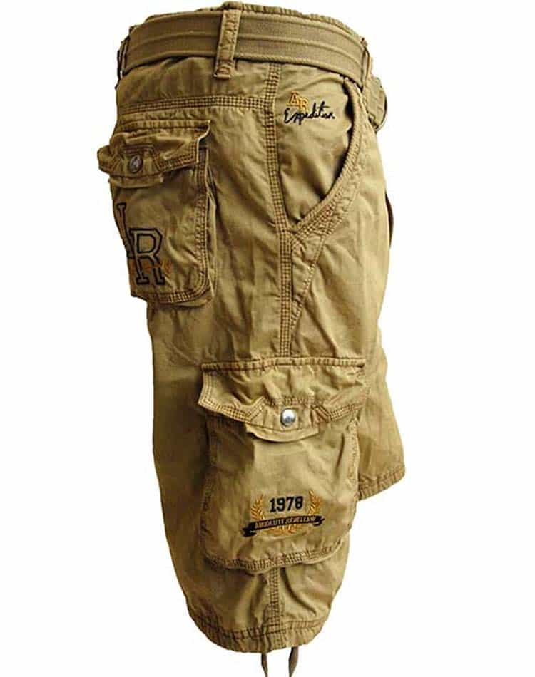 cargo shorts absolute rebellion adventure khaki