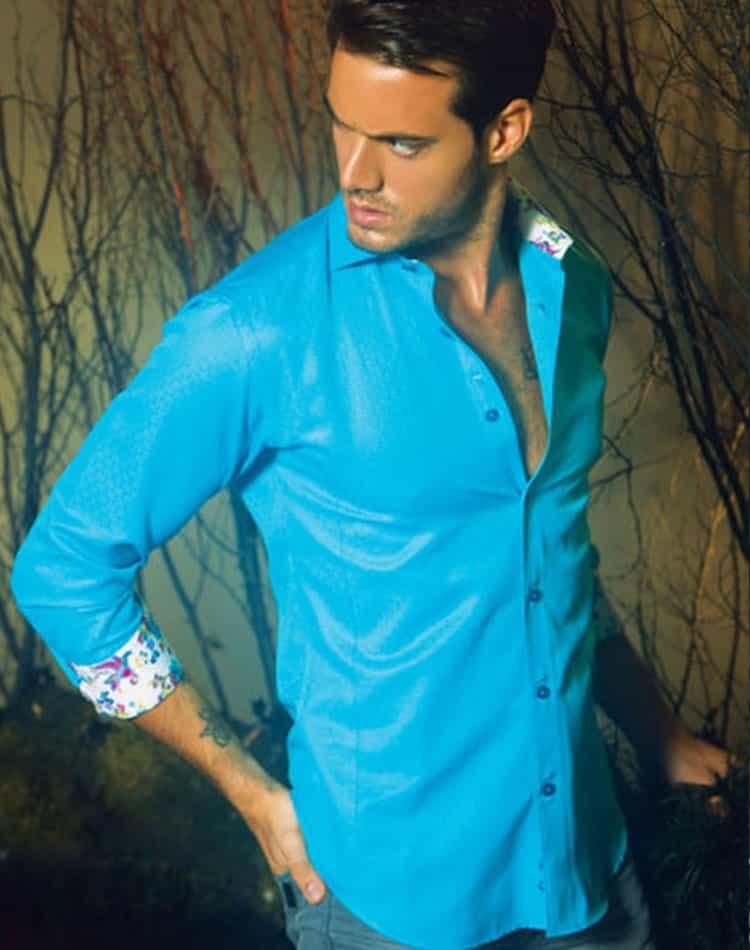 Aqua color dress shirts images for Aqua blue mens dress shirt