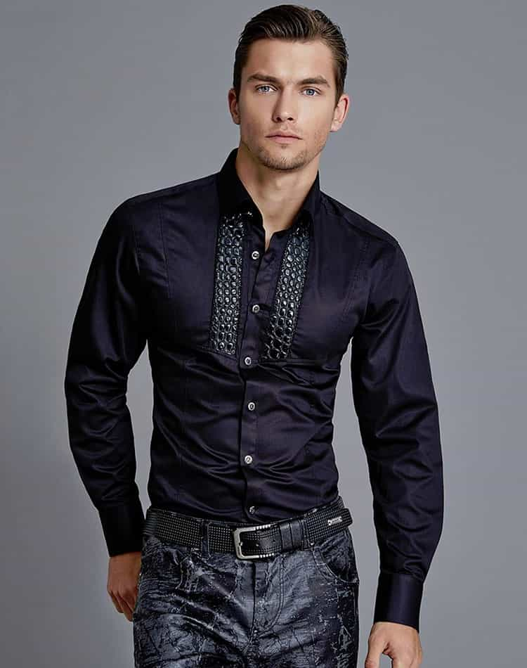 Mondo Jeans Back Luxury Dress Shirt Lux