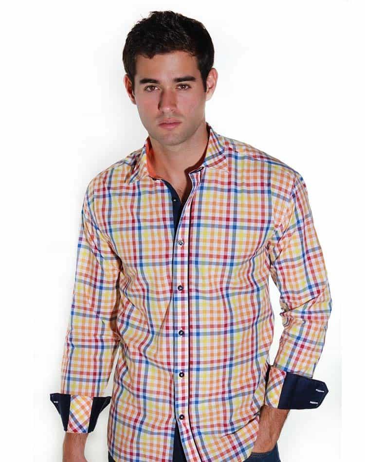 Orange Striped Shirt Envy Shirt 51014 Orange