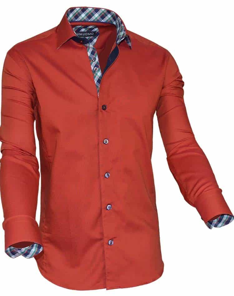 men european dress shirt rust color dress shirt via uomo