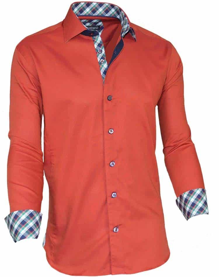 Men european dress shirt rust color dress shirt via uomo for European mens dress shirts