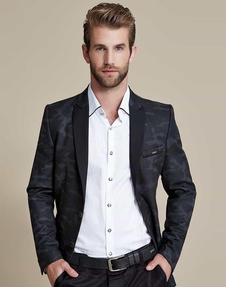Mondo jeans black camouflage blazer