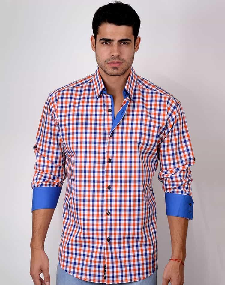 shop men s dress shirt absolute rebellion brasilia orange